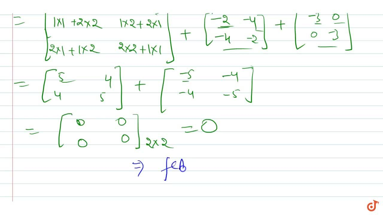 Solution for  If A=[(1 ,2 ),(2, 1)] and f(x)=x^2-2x-3 , s