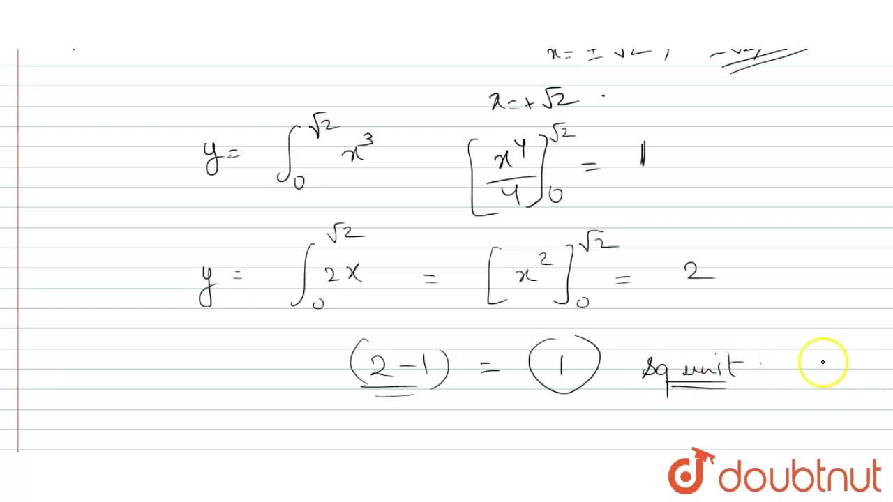 Solution for The area between the curves y = x^(3) and y = x