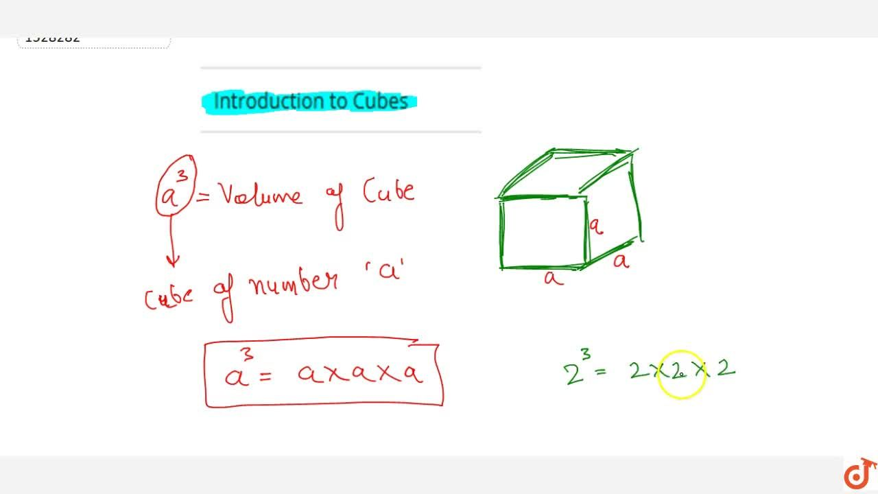 Solution for Introduction to Cubes