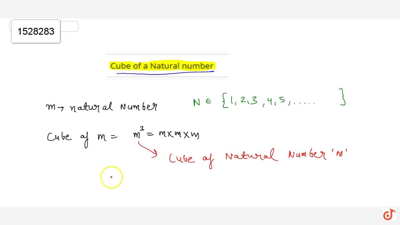 Solution for Cube of a natural number