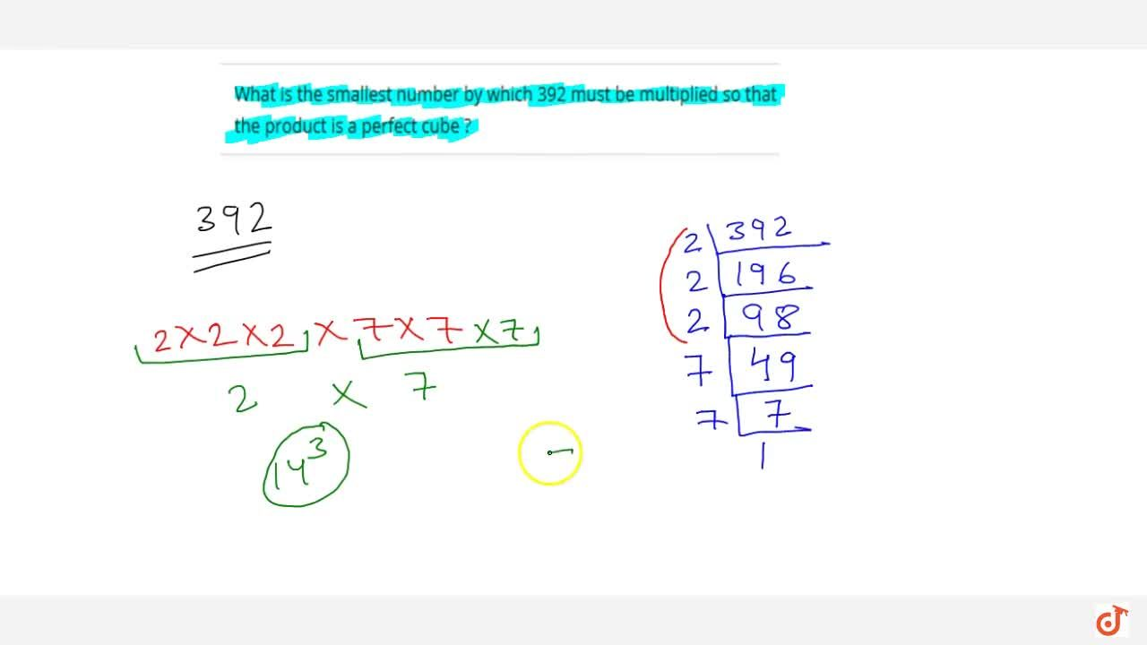 Solution for What is the smallest number by which 392 must be m