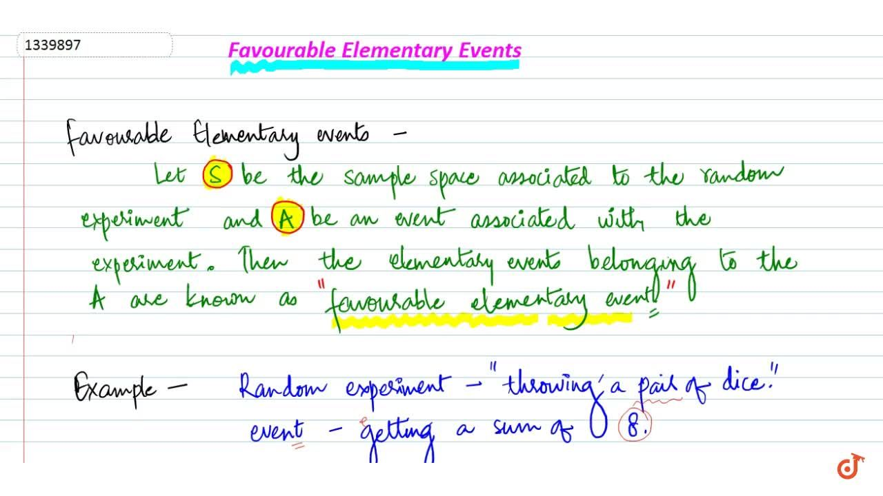 favorable elementary events
