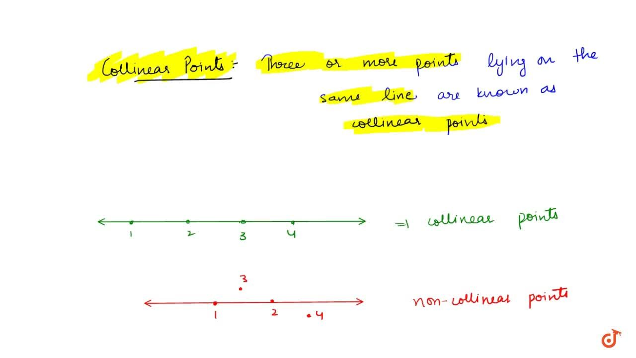 Solution for Collinear Points