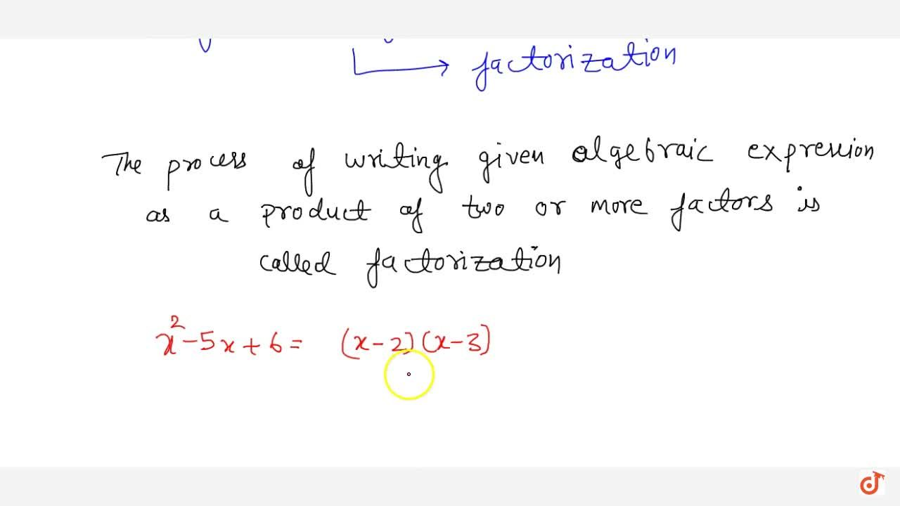 Solution for Factorization