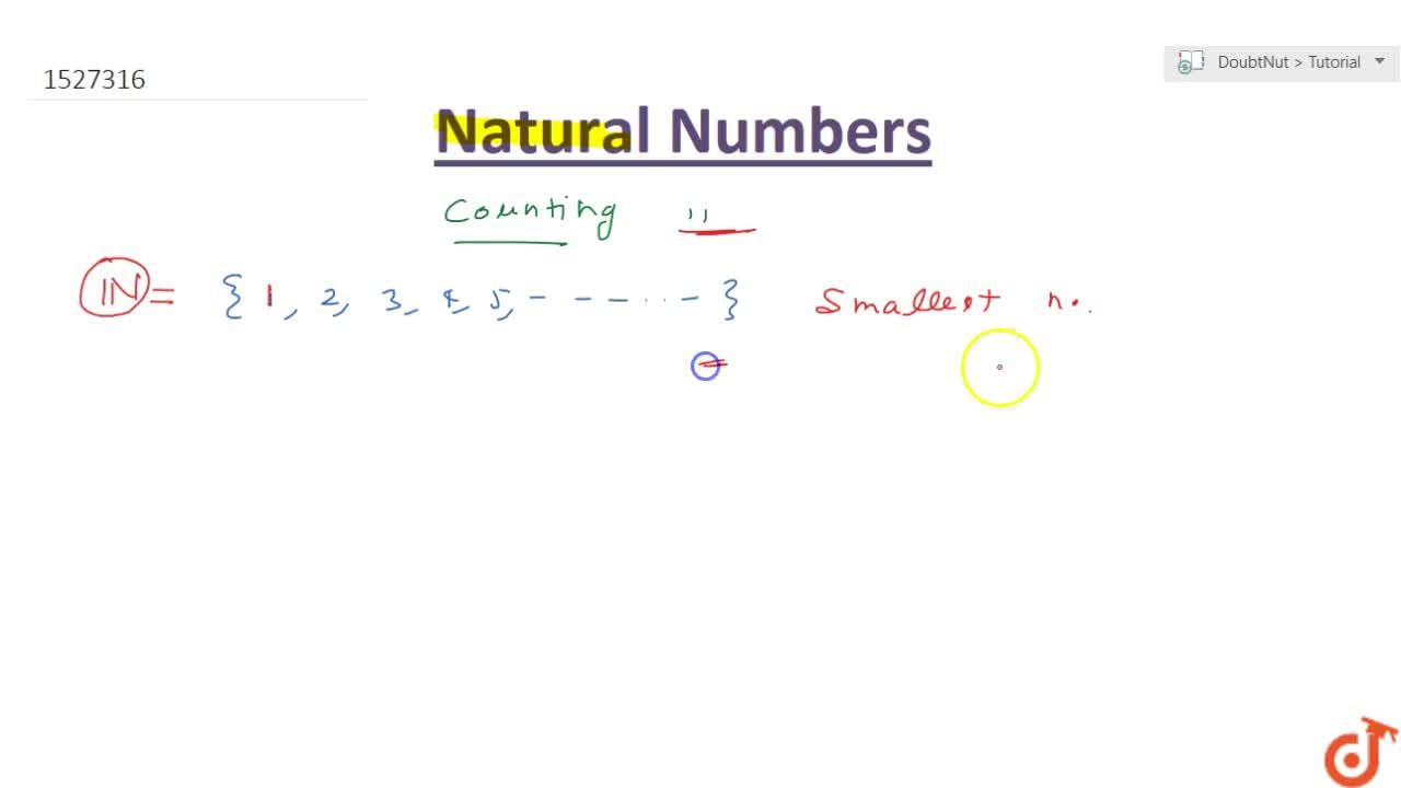 Solution for WHAT ARE NATURAL NUMBERS?