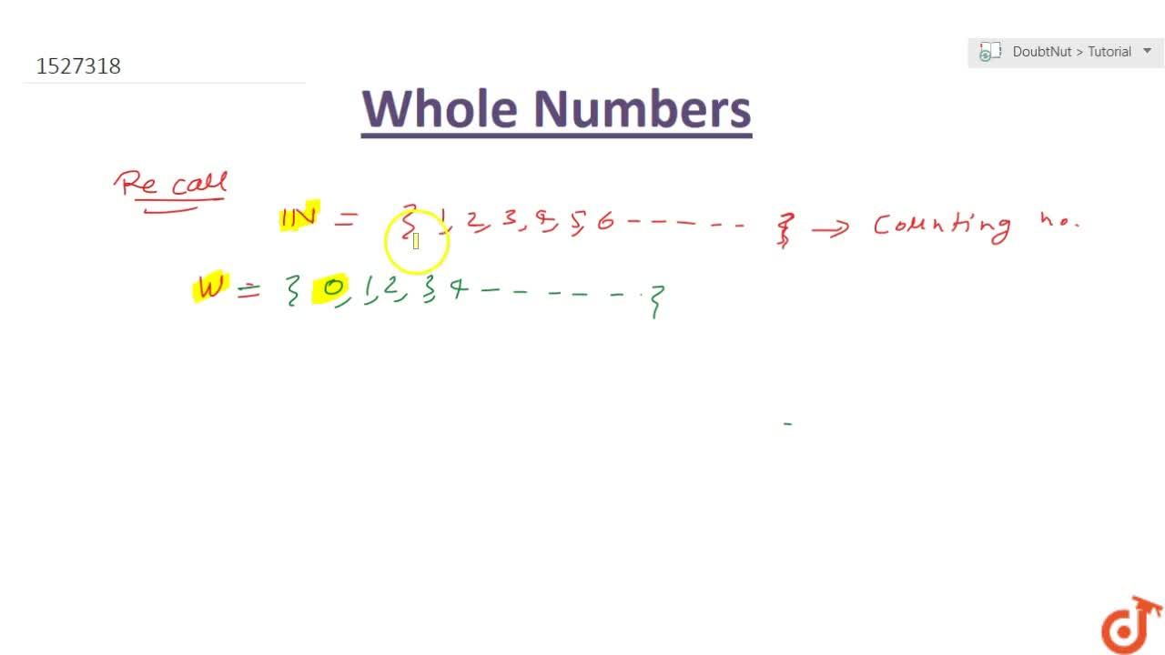 Solution for WHAT ARE WHOLE NUMBERS?