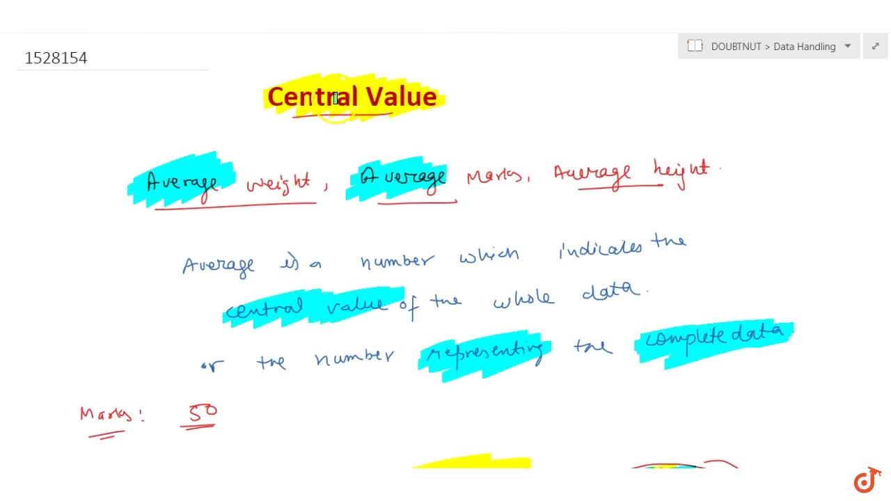 Central value