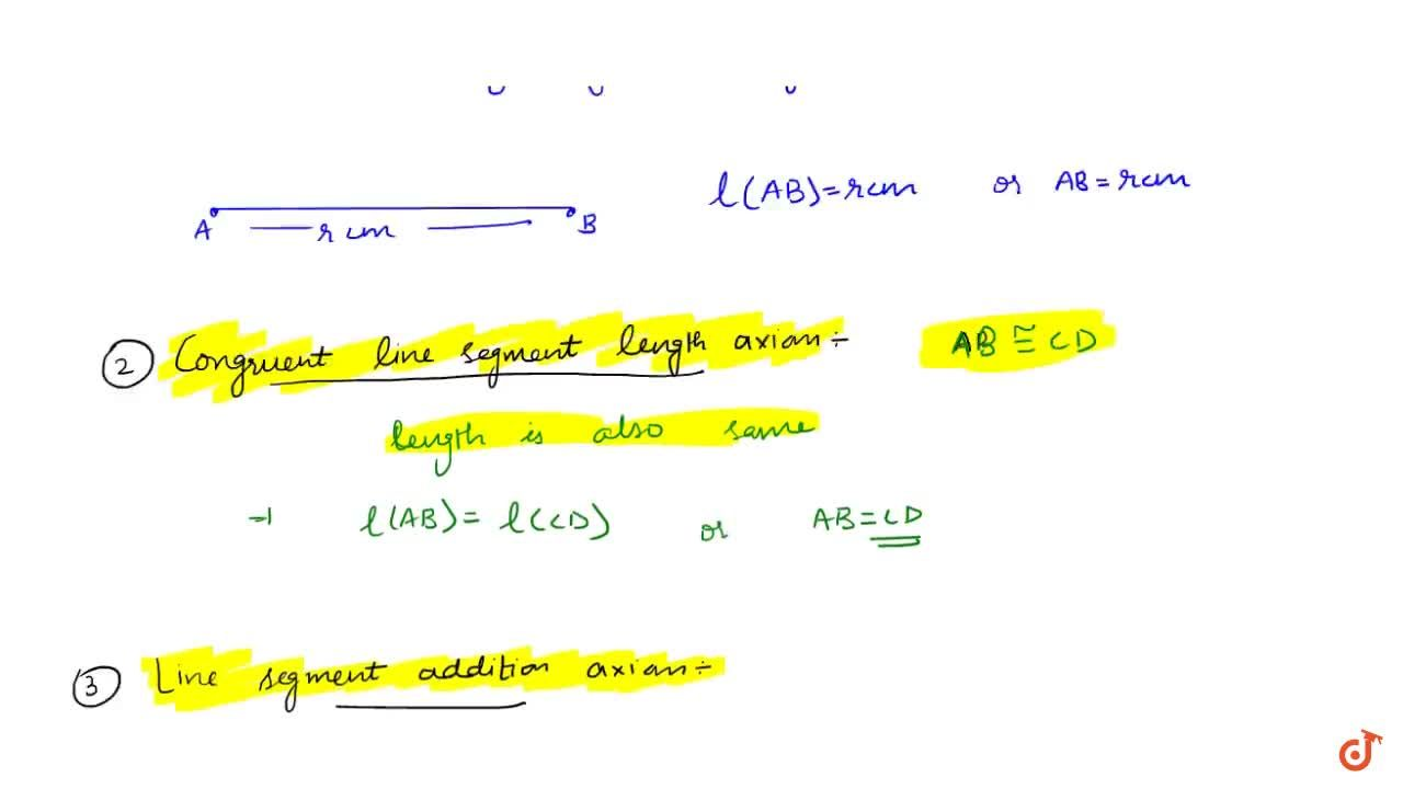 Solution for Properties of Line segment
