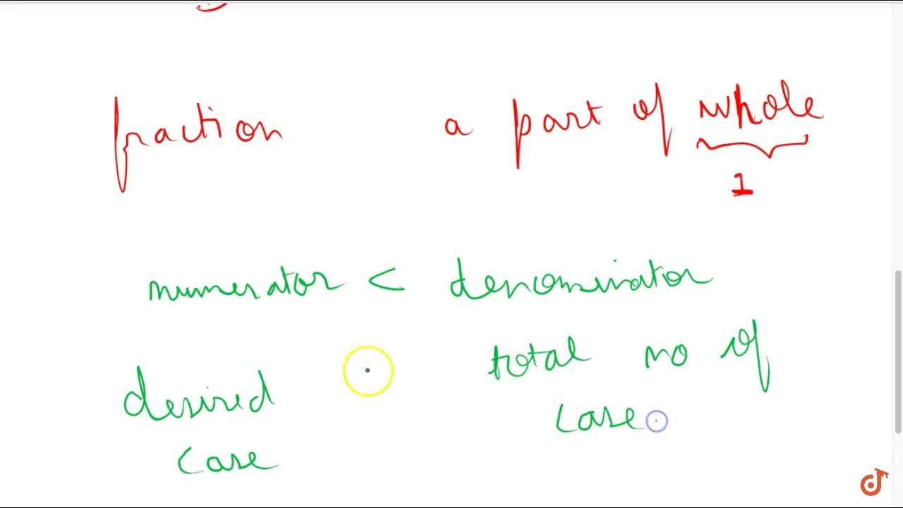 Solution for Proper fraction a fraction whose numerator is less