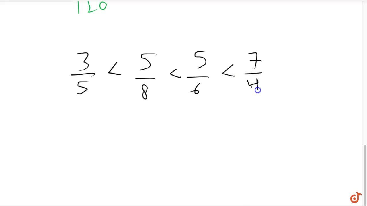 Solution for Arrange the following fractions in ascending order