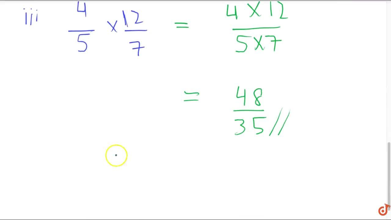 Multiply and reduce to lowest from (if possible) : (i)  2,3 xx 5,4  (ii)  1,3 xx 15,8  (iii)  4,5 xx 12,7