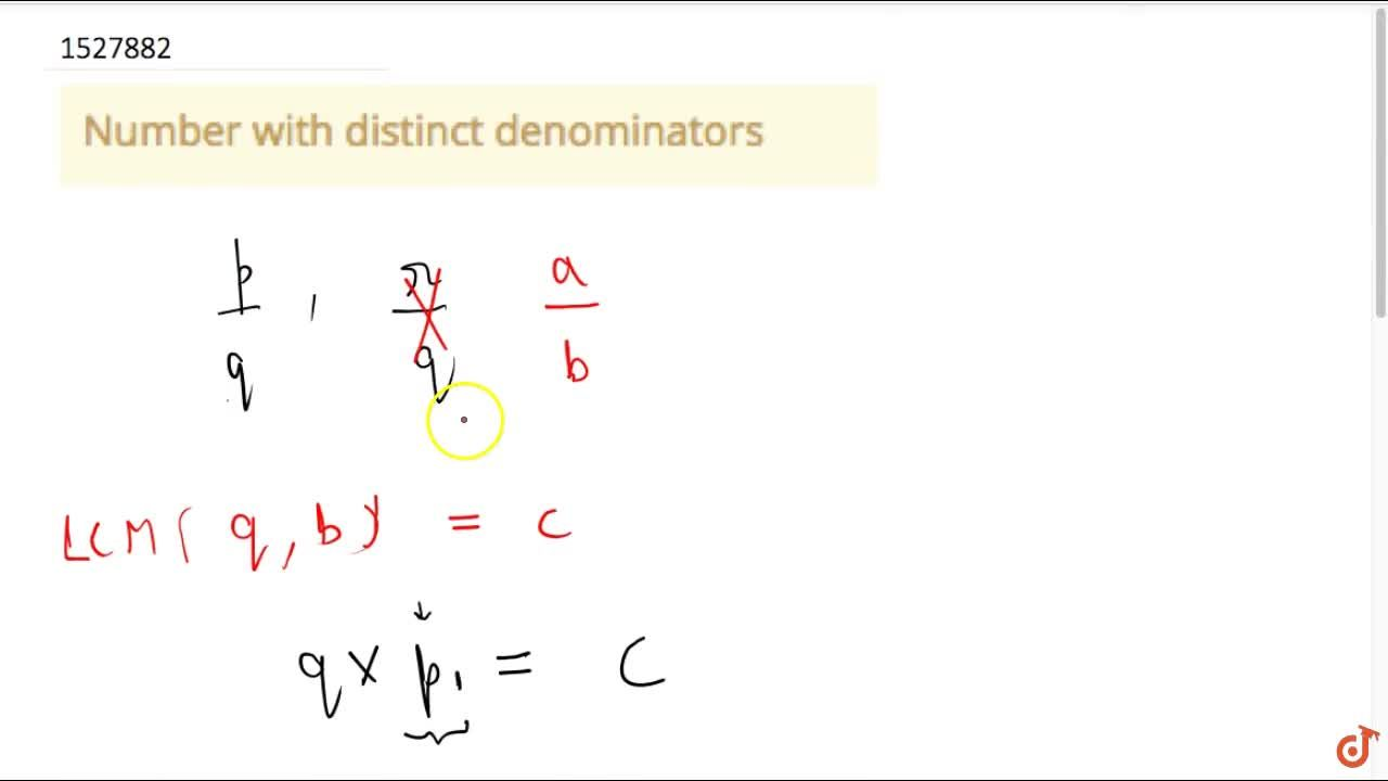 Solution for Number with distinct denominators