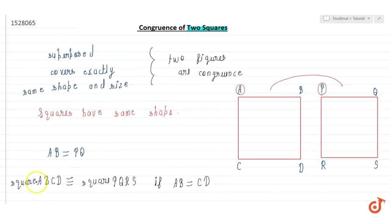 Solution for Congruence of two squares