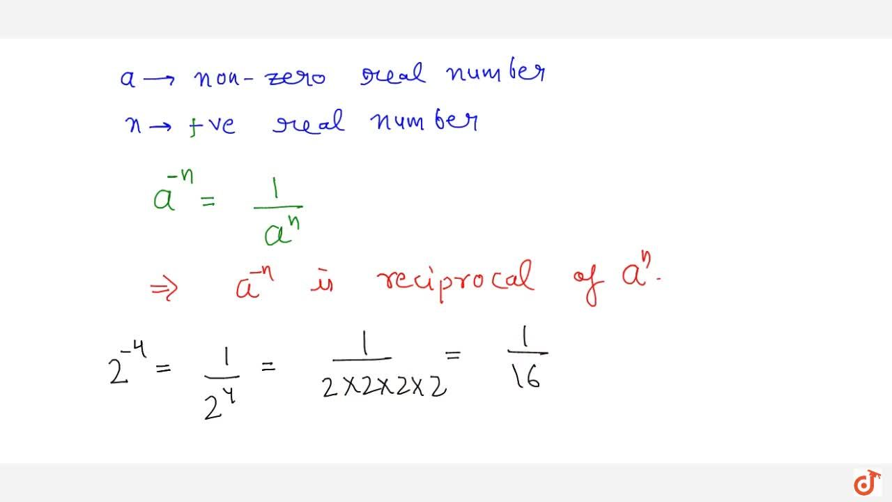 Solution for negative integral exponent