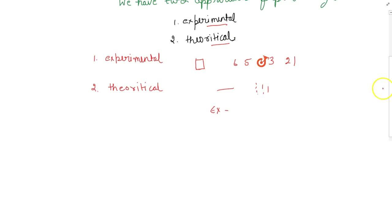 Solution for Theoretical approach to probability.