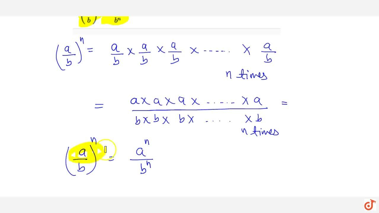 Solution for Fifth law If a b are non-zero rational numbers a