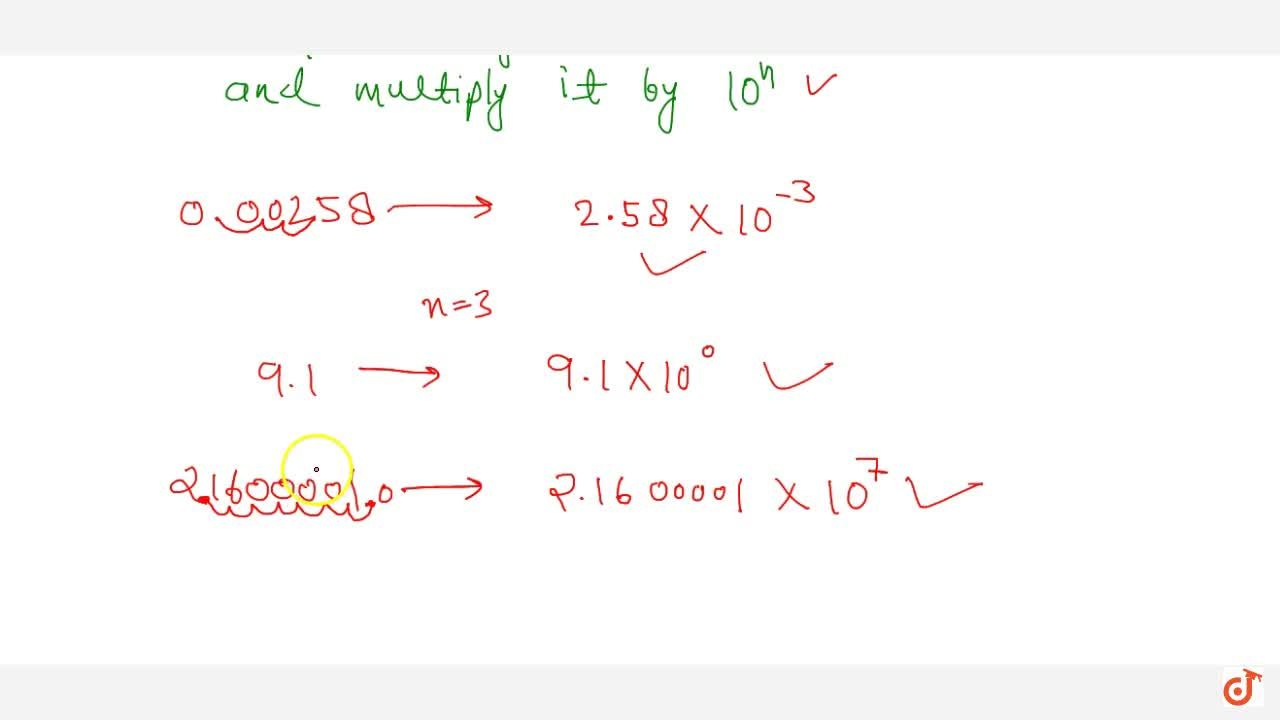 Solution for Use of exponents to express small numbers in stand