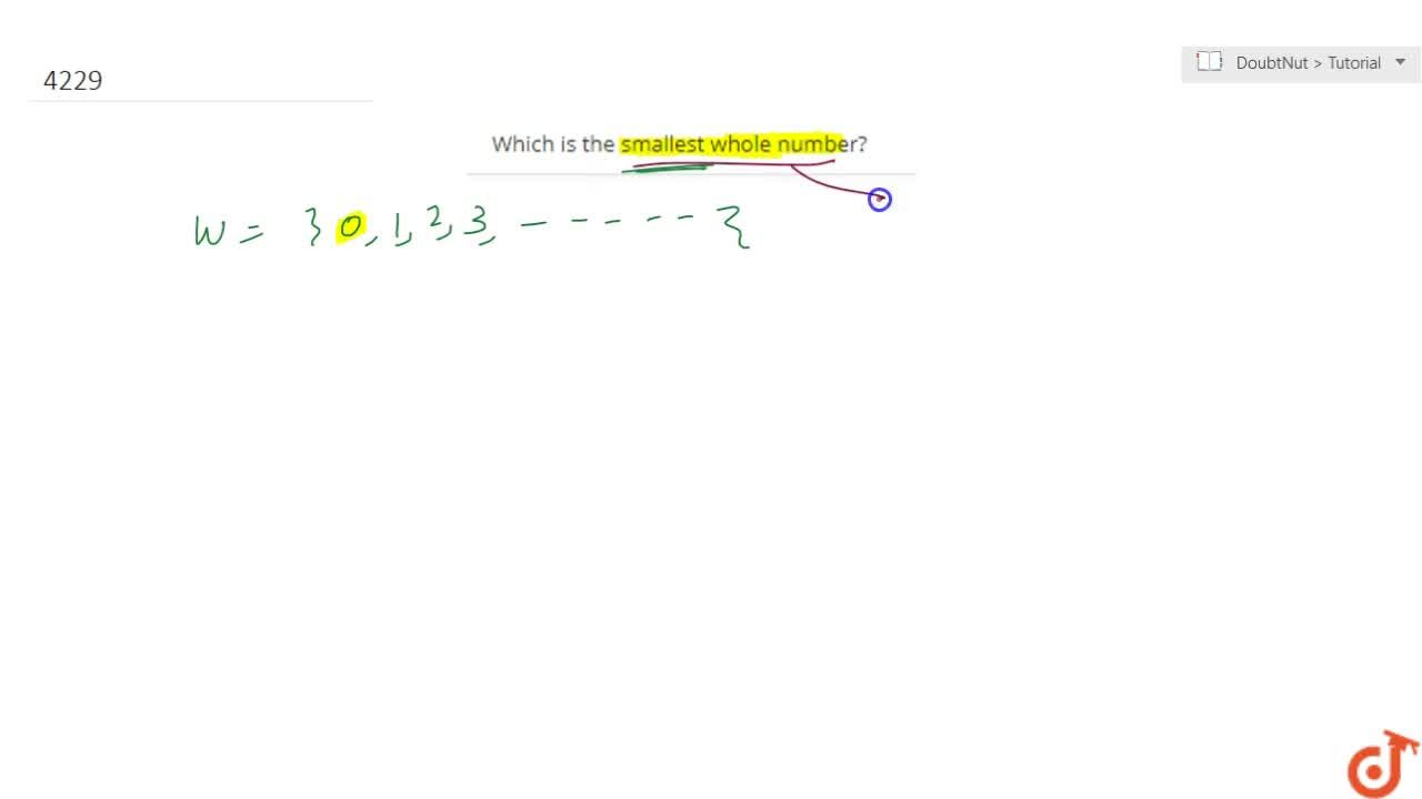 Solution for Which is the smallest whole number?