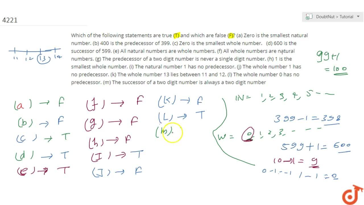 Solution for Which of the following statements  are true (T) an