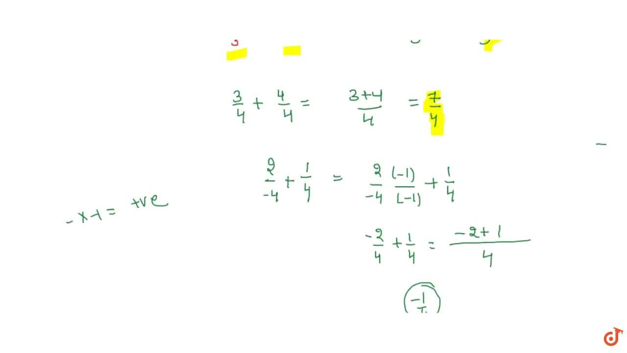 Rational numbers with same denominators