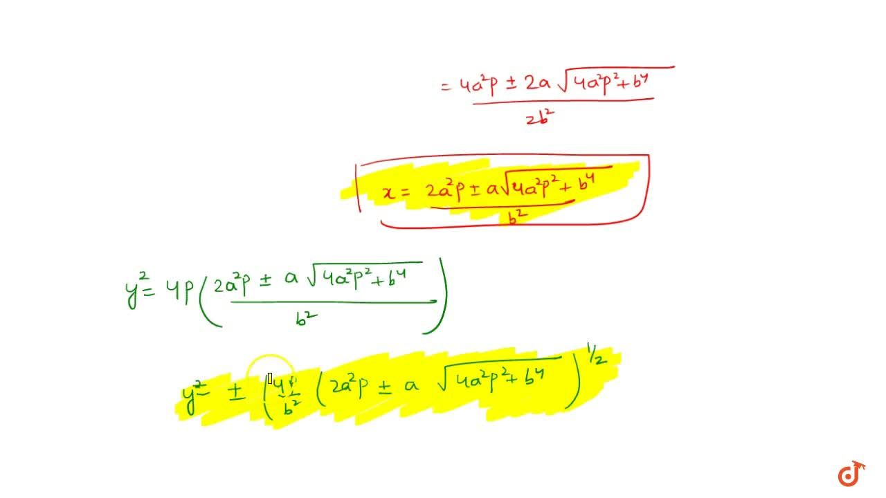 Solution for Intersection of Hyperbola with Parabola