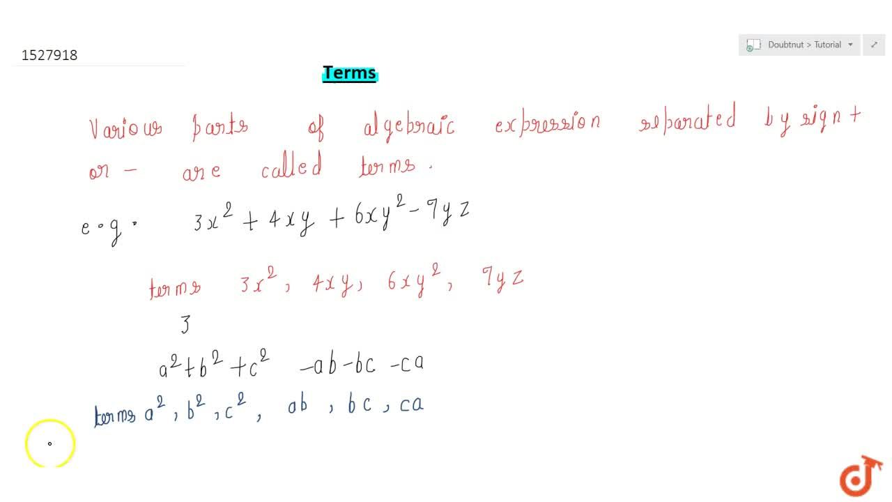 Solution for Terms
