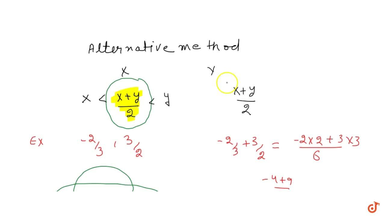 Solution for An alternative method to find rational numbers bet
