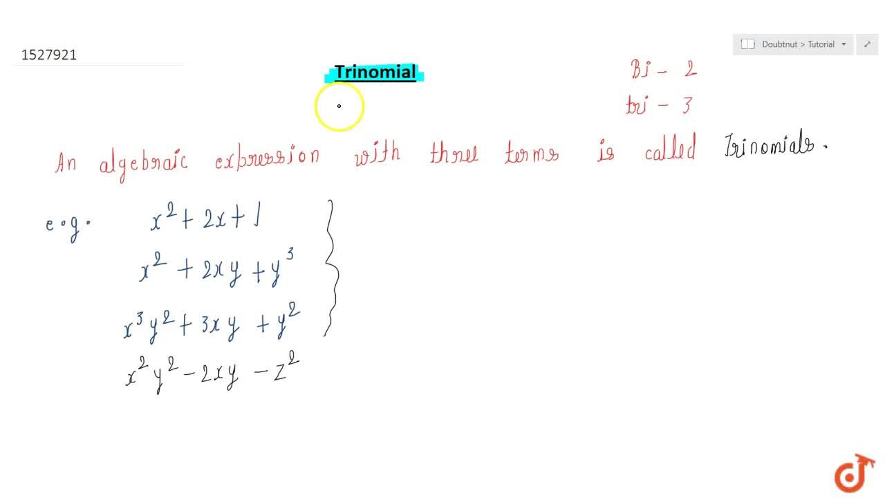 Solution for Trinomial .