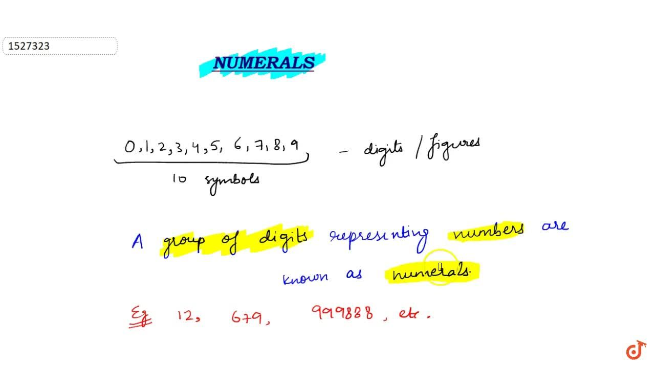 Solution for Definition of Numeral