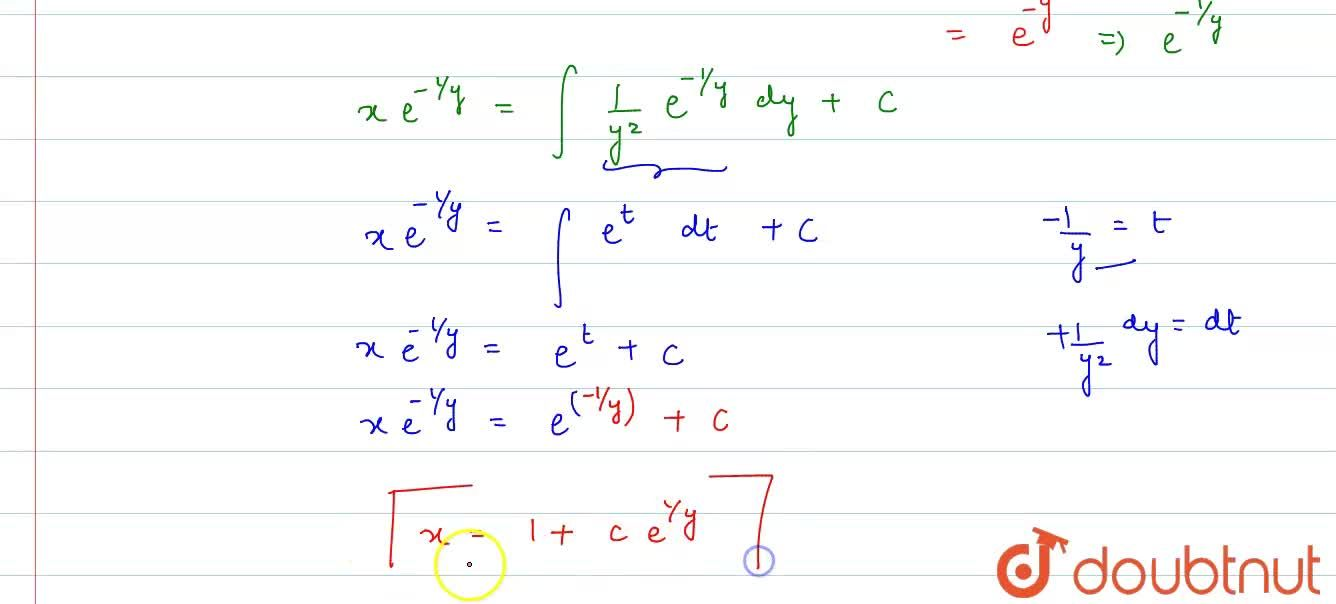 Solution for Solve the differential equation y^(2)(dx),(dy) +