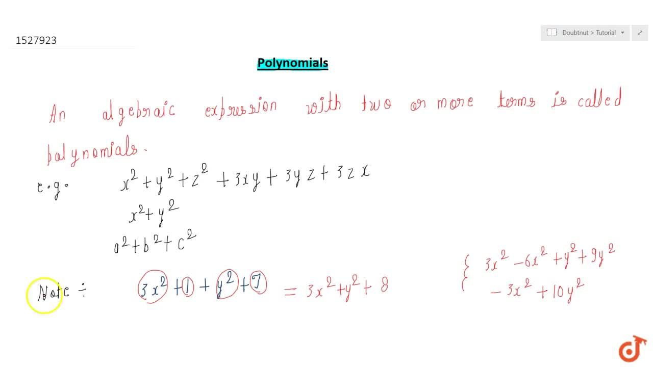 Solution for Polynomial