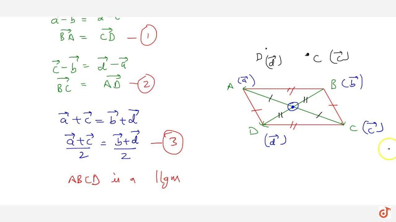 Solution for If  vec a ,\  vec b ,\  vec c and  vec d are t