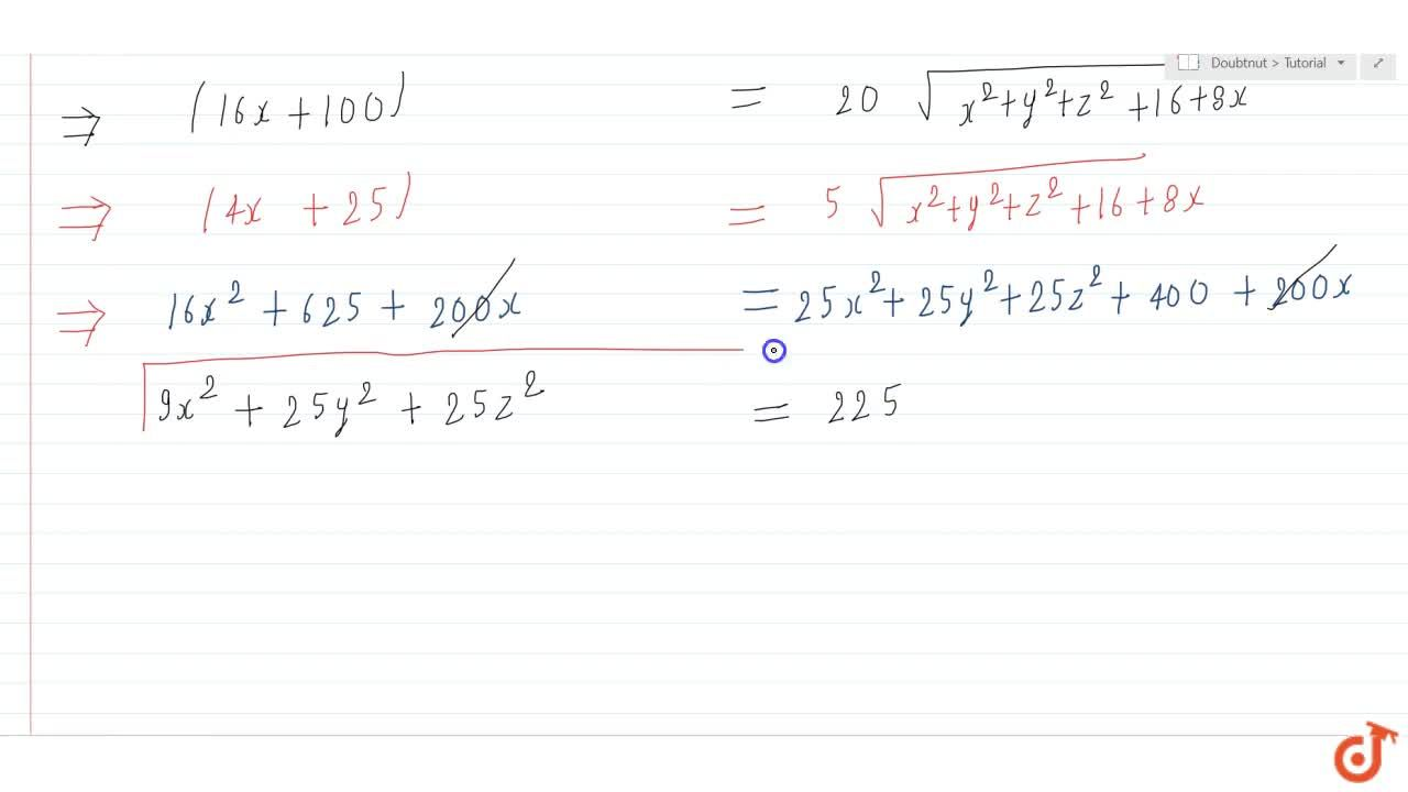 Solution for Find the equation of the set of points P, the sum