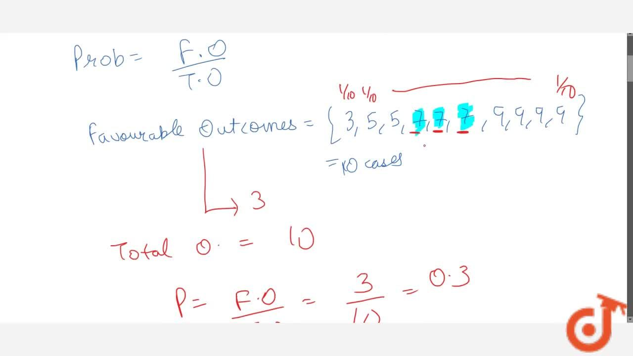 Solution for A number is selected at random from the numbrs 3,5