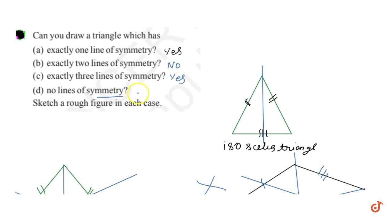 Solution for Can you draw a triangle which has(a) exactly one l