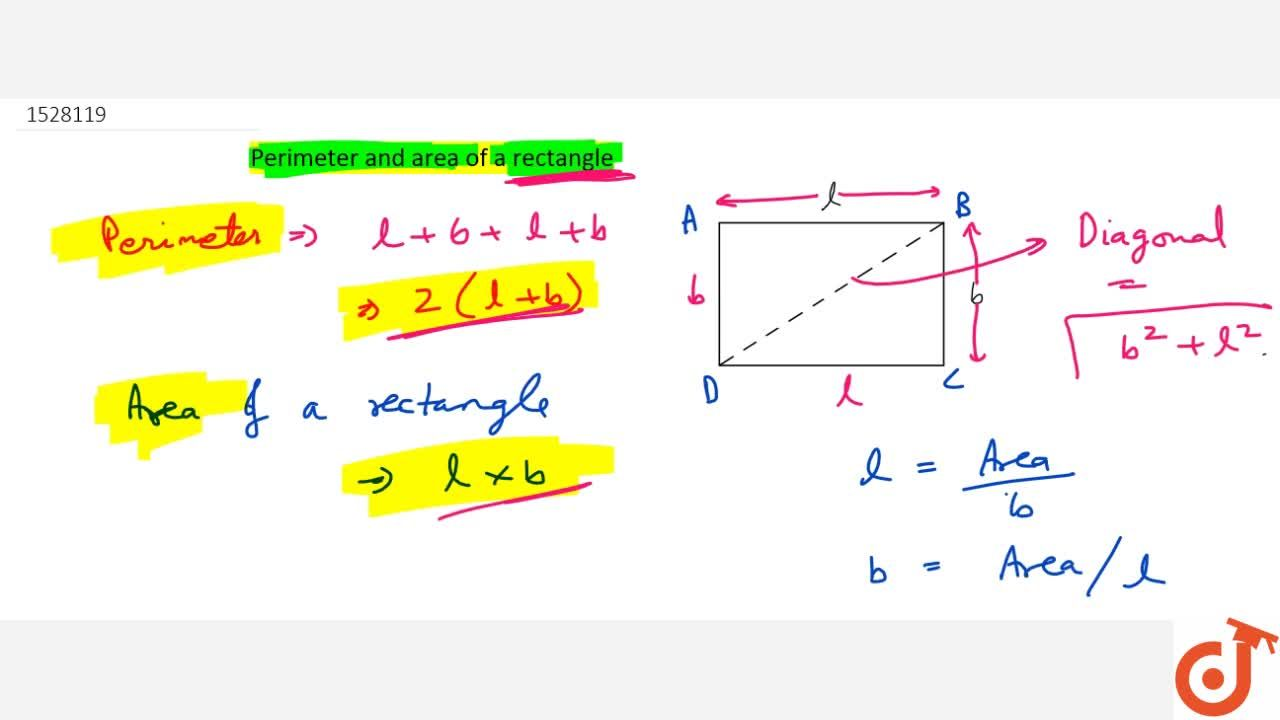 Solution for Perimeter and area of a rectangle