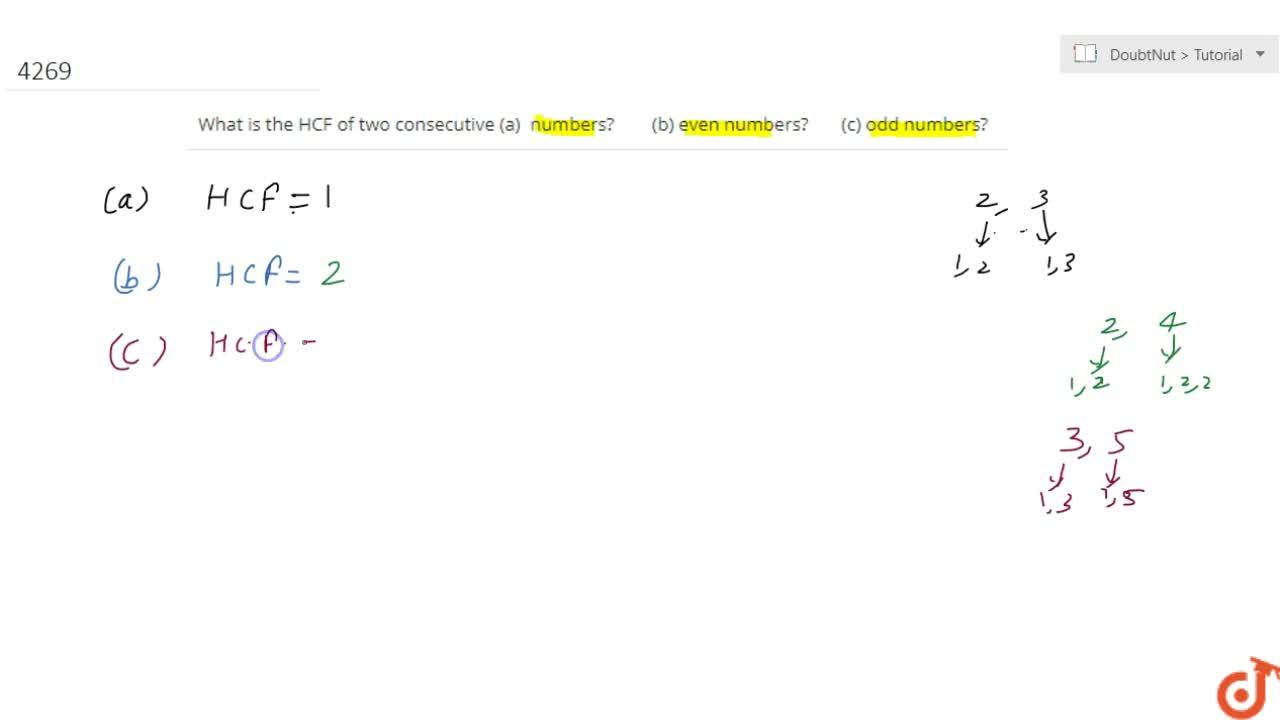 Solution for What is  the HCF of two consecutive(a) numbers?