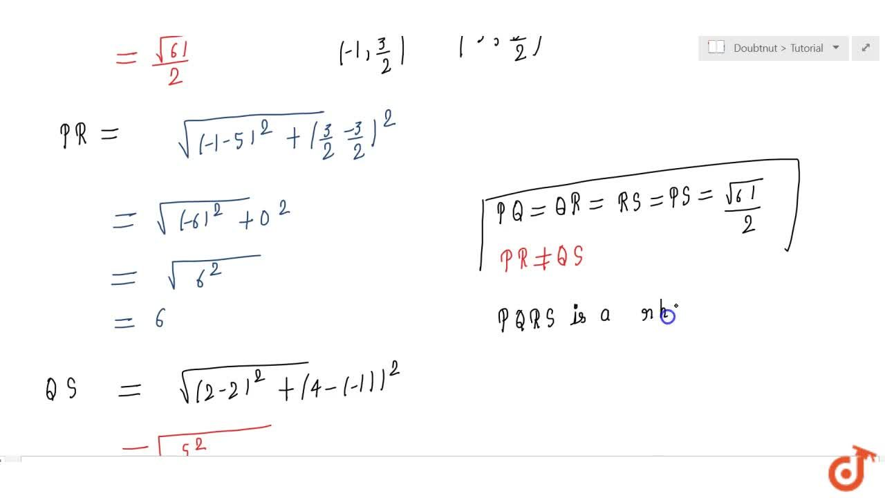 Solution for ABCD is a rectangle formed by the points A(1,\ 1)