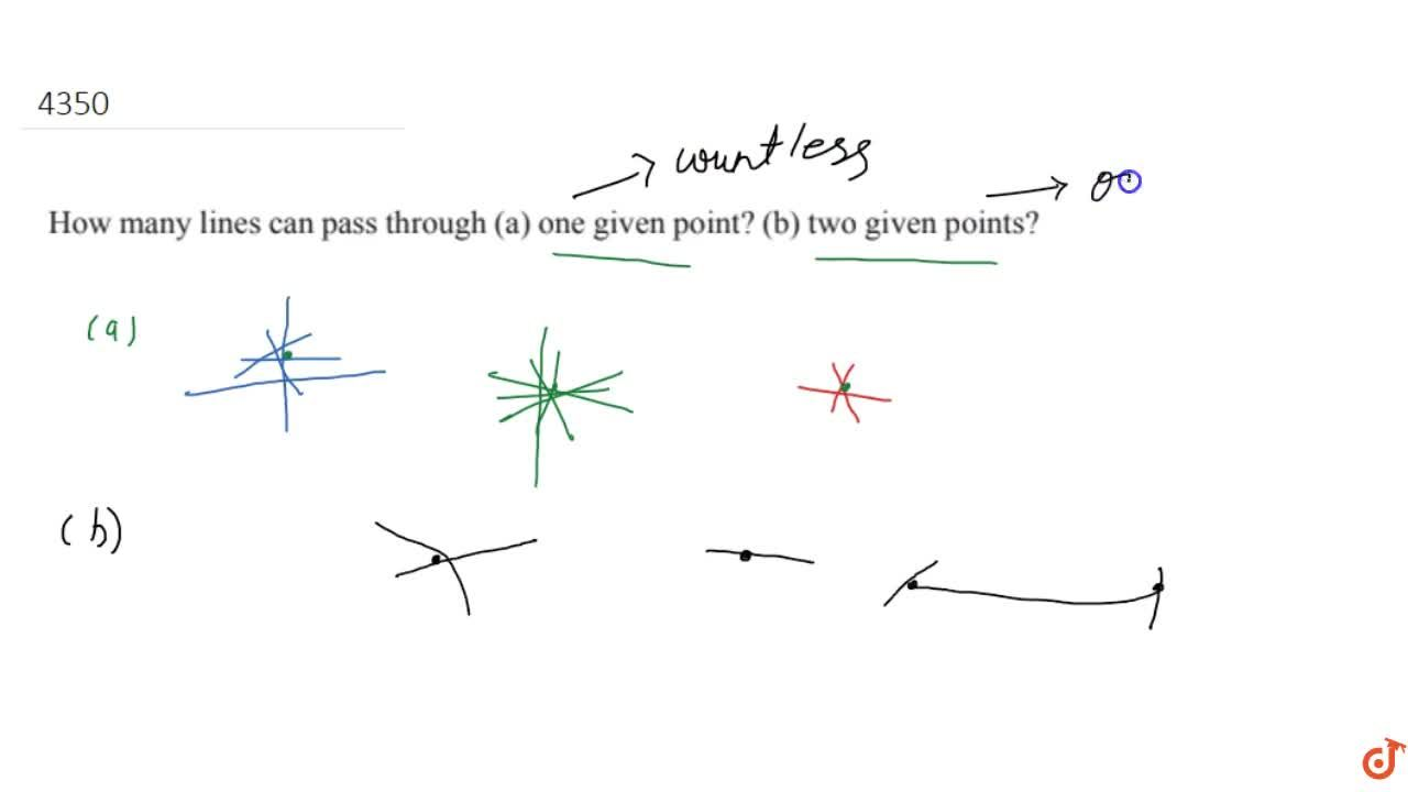 Solution for How many  lines can pass through (a) one given poi