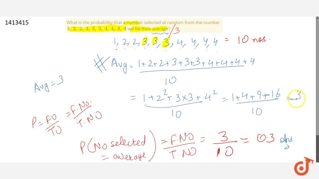 Solution for What is the   probability that a number selected
