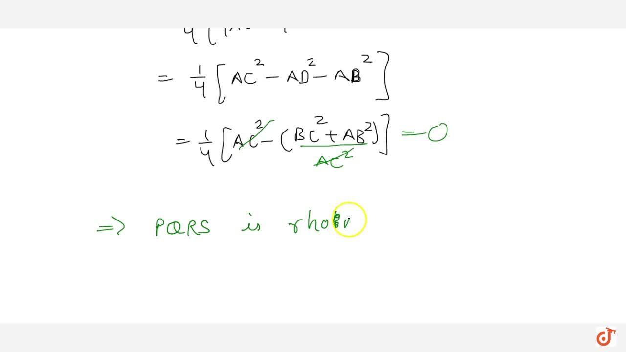 Solution for Prove using vectors: The quadrilateral obtained by