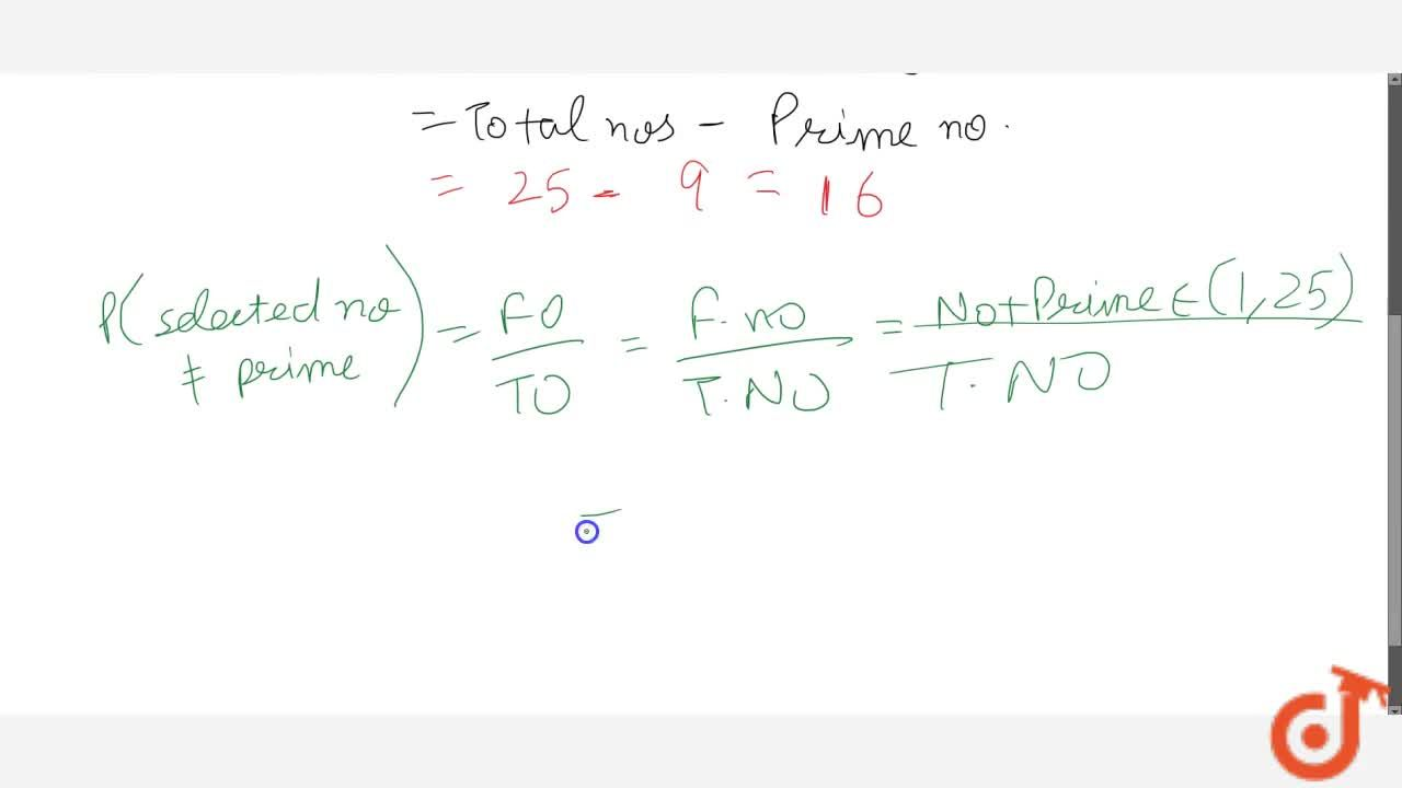 Solution for Find the   probability that a number selected fro