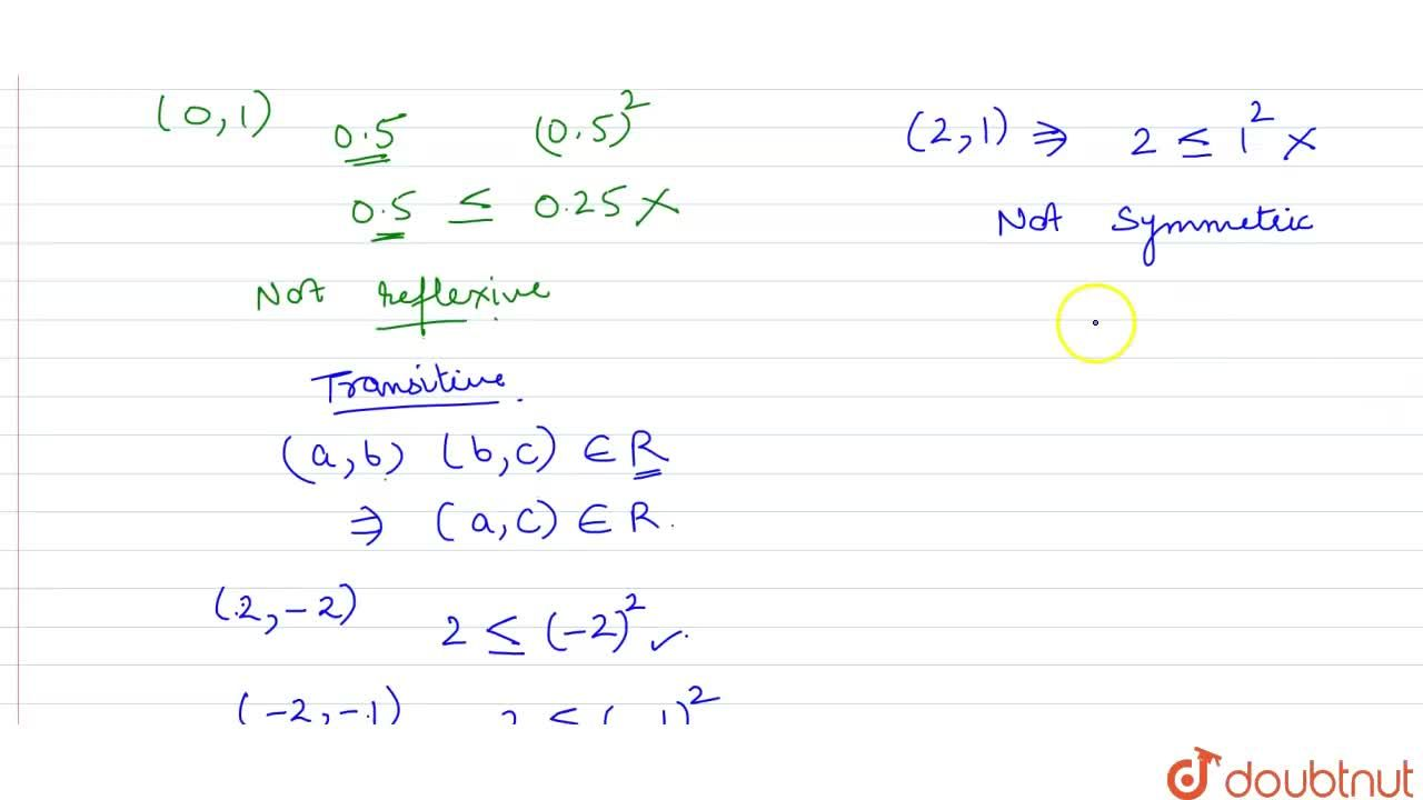 Solution for Show that the relation R in the set R of real  num