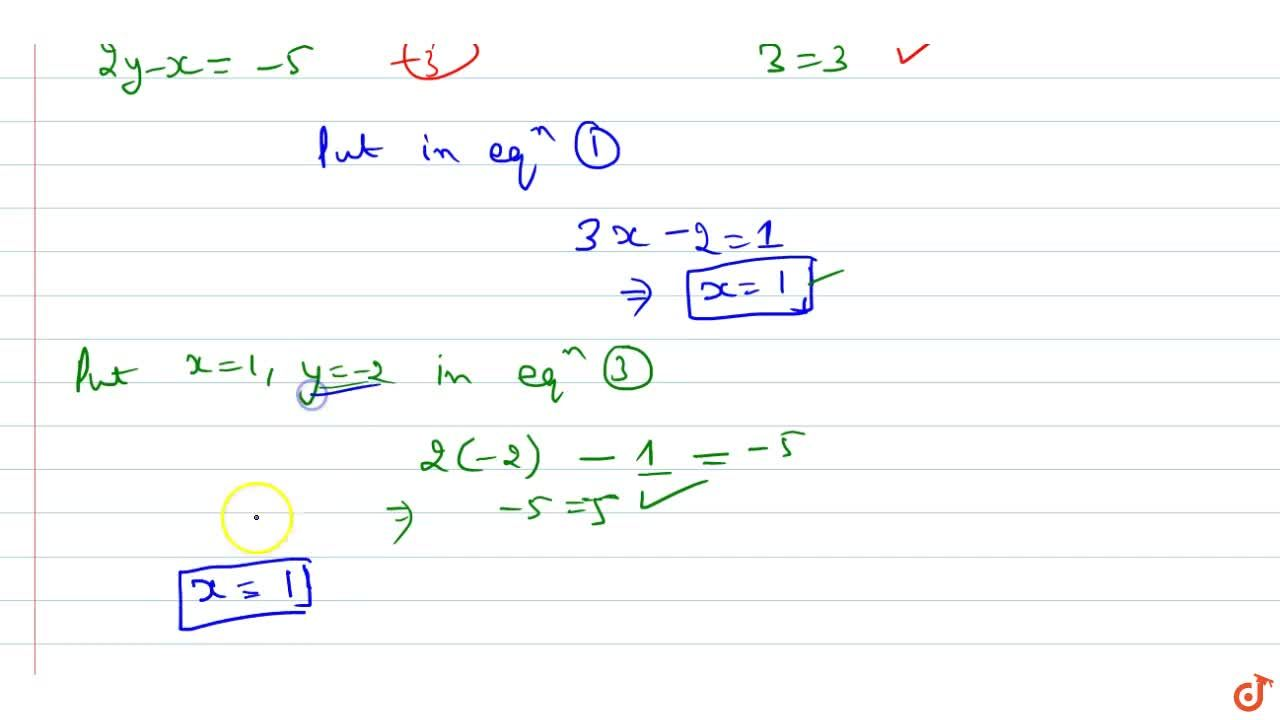 Solution for  Find the value of x , if [(3x+y,-y),(2y-x,3)]