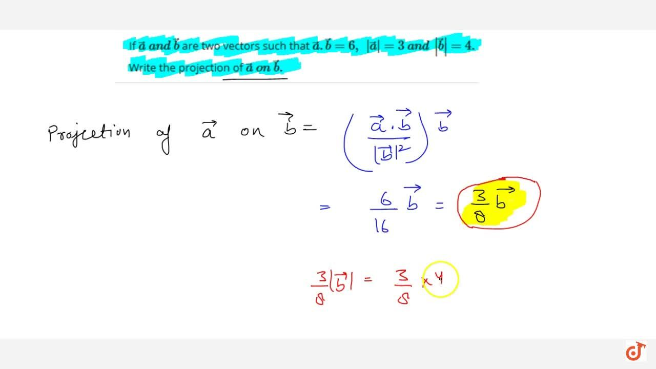 Solution for If  vec a\ a n d\  vec b are two vectors such th