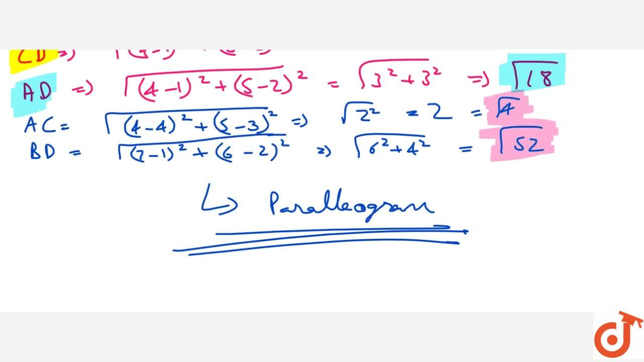 Solution for Name the   quadrilateral formed, if any, by the f