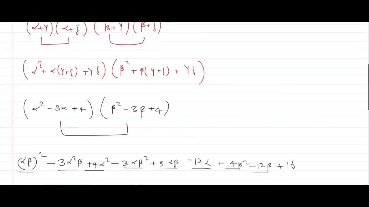 Solution for if alpha,beta the roots x^2+x+2=0 and gamma ,