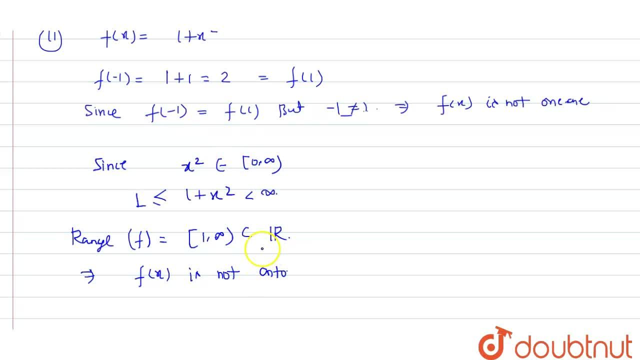 Solution for In each of the following cases, state whether the