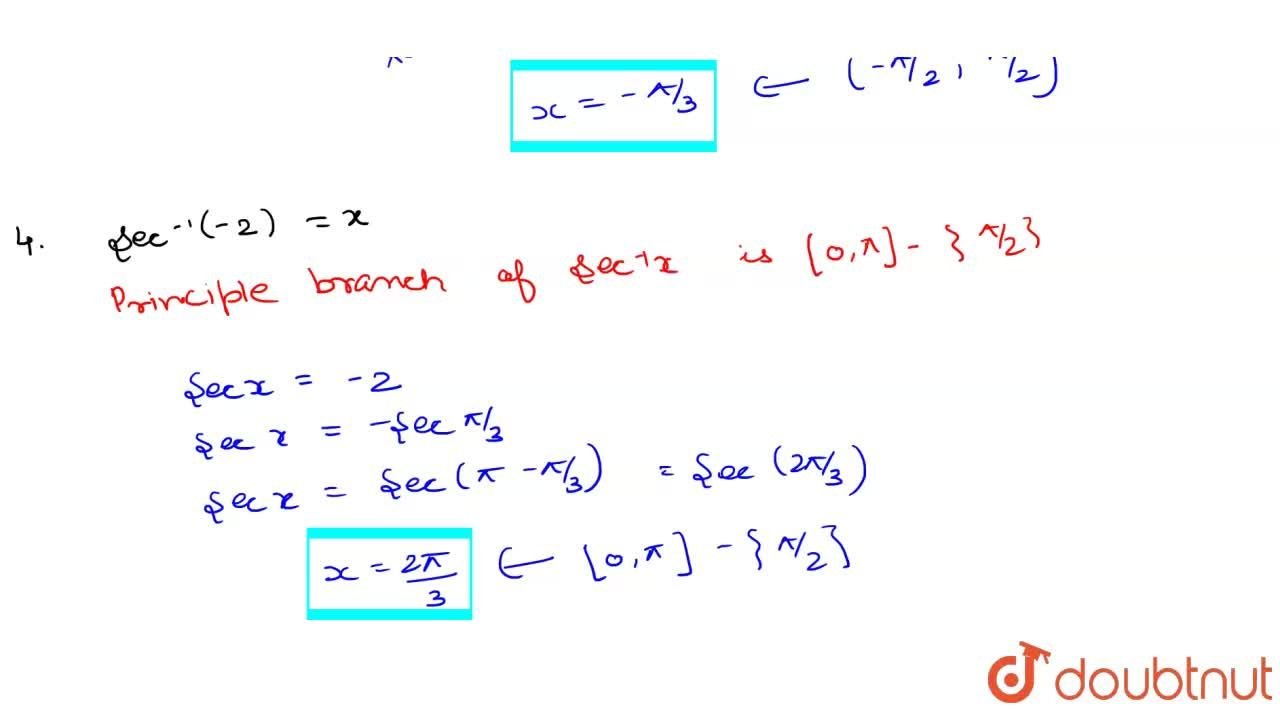 Solution for Find the principal value of: <br> i) sin^(-1)(-1,