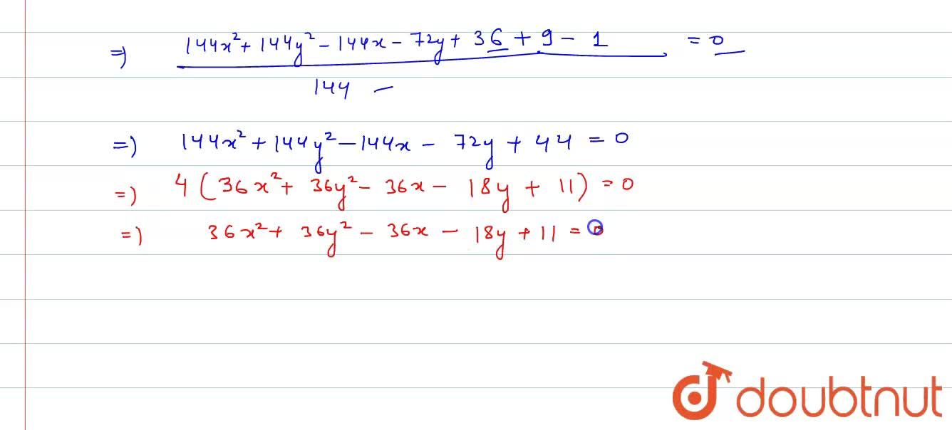 Solution for Find the equation of the circle with centre :(1,2